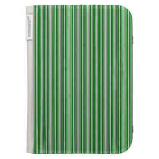 Silver and Green Christmas Stripes Case For Kindle