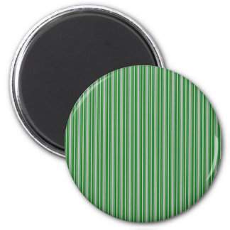 Silver and Green Christmas Stripes Magnets