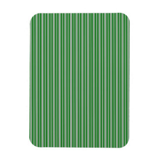 Silver and Green Christmas Stripes Vinyl Magnets