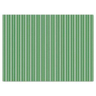 Aqua Silver and Green Christmas Stripes Tissue Paper