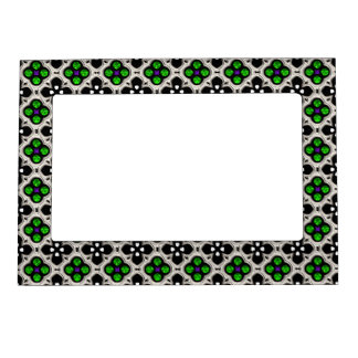 Silver and Green Holiday Bling Magnetic Picture Frame