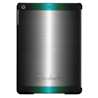 Silver and Green Stainless Steel Metal iPad Air Covers