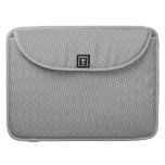 Silver and grey triangles pattern MacBook pro sleeves