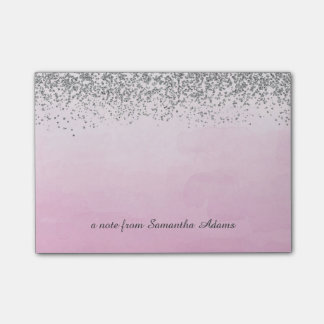 Silver and Ombre Pink Notes