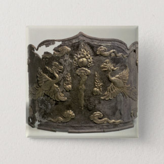 Silver and parcel gilt Imperial Crown Pinback Button