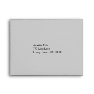 Silver and Peach RSVP Envelope