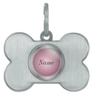 Silver and Pink   DIY Name Pet Name Tag