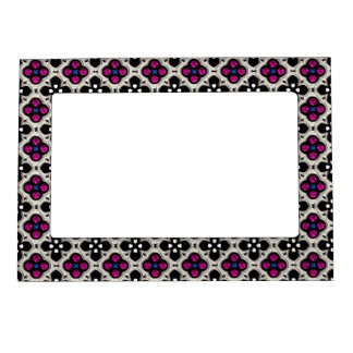 Silver and Pink Holiday Bling Magnetic Photo Frame