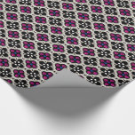 Silver and Pink Holiday Bling Wrapping Paper