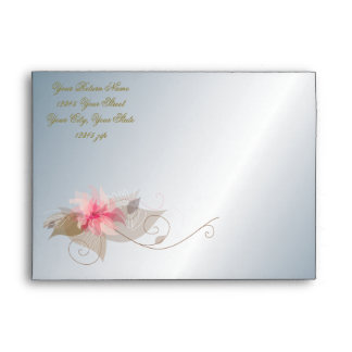 Silver and Pink Lily Envelope