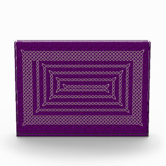 Silver And Purple Celtic Rectangular Spiral Awards