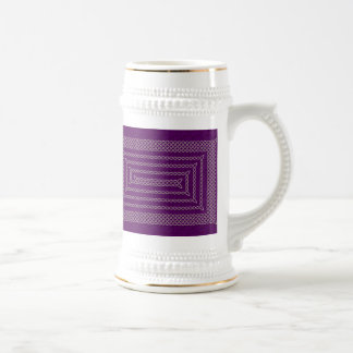 Silver And Purple Celtic Rectangular Spiral Beer Stein