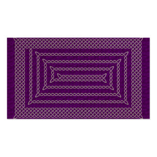 Silver And Purple Celtic Rectangular Spiral Double-Sided Standard Business Cards (Pack Of 100)