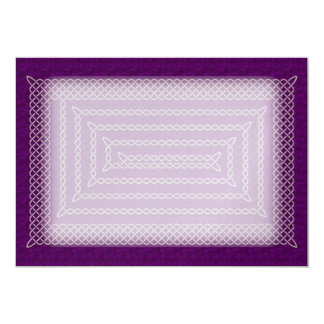 Silver And Purple Celtic Rectangular Spiral Card