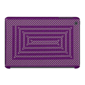 Silver And Purple Celtic Rectangular Spiral iPad Mini Cases