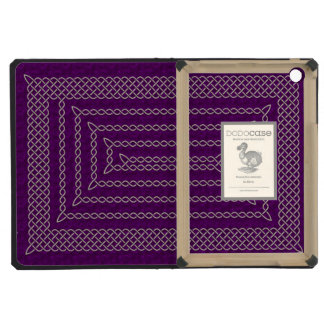 Silver And Purple Celtic Rectangular Spiral iPad Mini Retina Covers