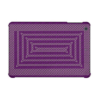 Silver And Purple Celtic Rectangular Spiral iPad Mini Covers