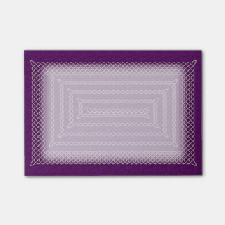 Silver And Purple Celtic Rectangular Spiral Post-it® Notes