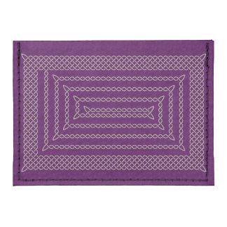 Silver And Purple Celtic Rectangular Spiral Tyvek® Card Case Wallet