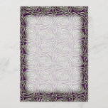 Silver And Purple Celtic Spiral Knots Pattern