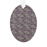 Silver And Purple Celtic Spiral Knots Pattern Ornament