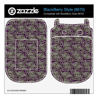 Silver And Purple Celtic Spiral Knots Pattern BlackBerry Style Decal