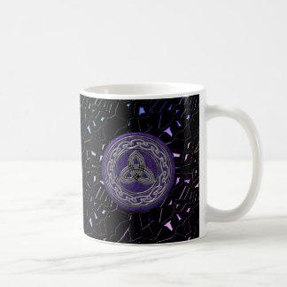 Silver and Purple Celtic Wheel on Jeweled Sky Mug