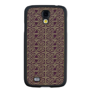 Silver And Purple Connected Ovals Celtic Pattern Carved® Maple Galaxy S4 Slim Case