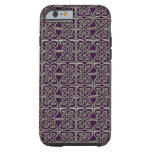 Silver And Purple Connected Ovals Celtic Pattern Tough iPhone 6 Case