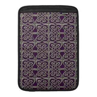 Silver And Purple Connected Ovals Celtic Pattern MacBook Air Sleeves