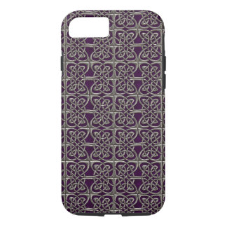 Silver And Purple Connected Ovals Celtic Pattern iPhone 7 Case
