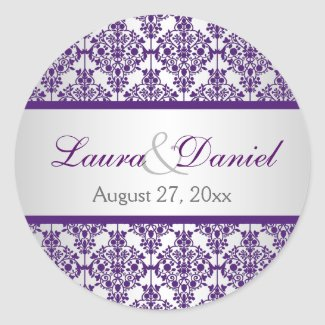 Silver and Purple Damask 1.5