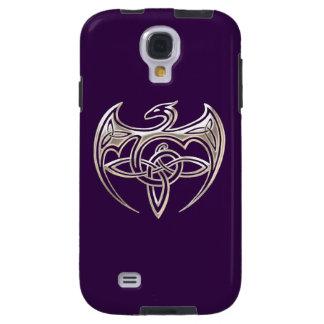 Silver And Purple Dragon Trine Celtic Knots Art Galaxy S4 Case