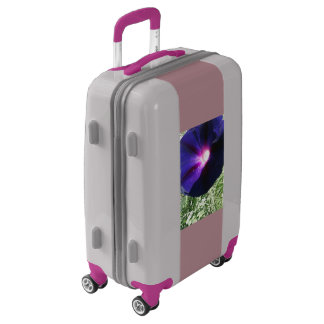Silver and Purple Floral Carry On Luggage