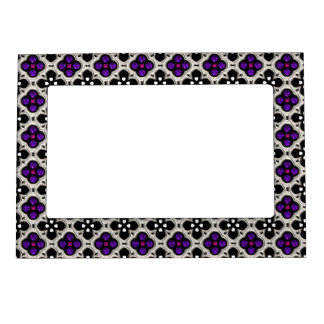 Silver and Purple Holiday Bling Magnetic Photo Frame