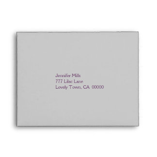 Silver and Purple RSVP Envelope