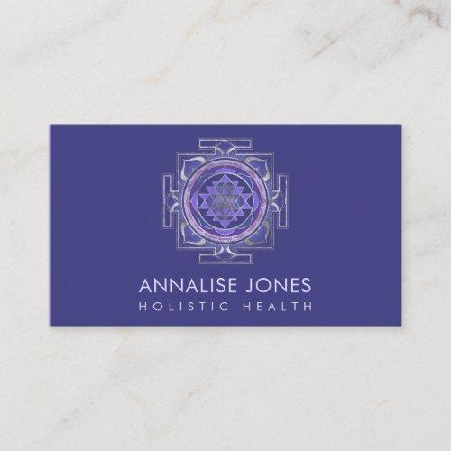 Silver and Purple  Sri Yantra   Sri Chakra Business Card