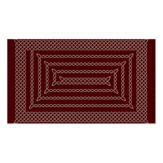 Silver And Red Celtic Rectangular Spiral Double-Sided Standard Business Cards (Pack Of 100)