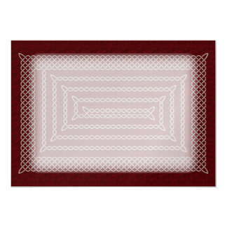 Silver And Red Celtic Rectangular Spiral Card