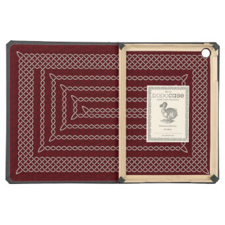 Silver And Red Celtic Rectangular Spiral iPad Air Case