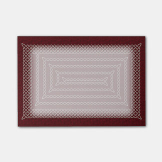Silver And Red Celtic Rectangular Spiral Post-it® Notes