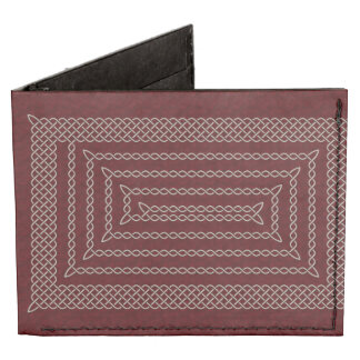Silver And Red Celtic Rectangular Spiral Tyvek® Billfold Wallet