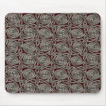 Silver And Red Celtic Spiral Knots Pattern Mouse Pad