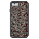 Silver And Red Celtic Spiral Knots Pattern Tough Xtreme iPhone 6 Case