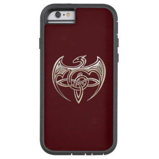 Silver And Red Dragon Trine Celtic Knots Art Tough Xtreme iPhone 6 Case