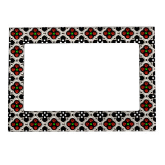 Silver and Red Holiday Bling Magnetic Photo Frame