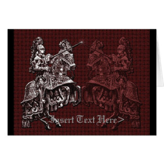 Silver and Red Medieval Knights Greeting Card