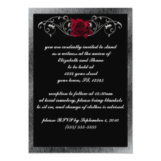 Silver and Roses Gothic Invitation