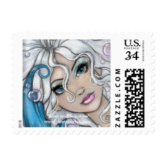 """""""Silver and Sapphire"""" postage stamp"""