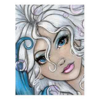 """""""Silver and Sapphire"""" postcard"""